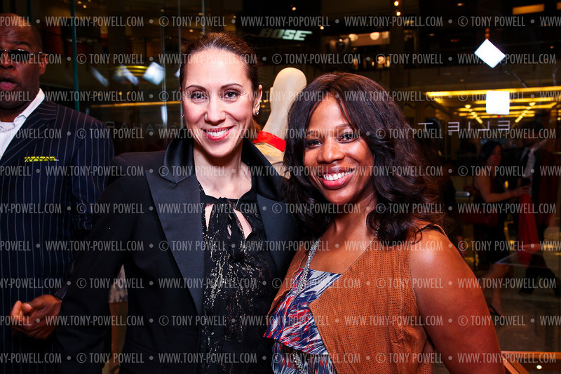Washingtonian Magazine Fashion  Editor Jill Hudson Neal, Charrisse Jordan. Elie Tahari Opening. Photo © Tony Powell. April 27, 2011