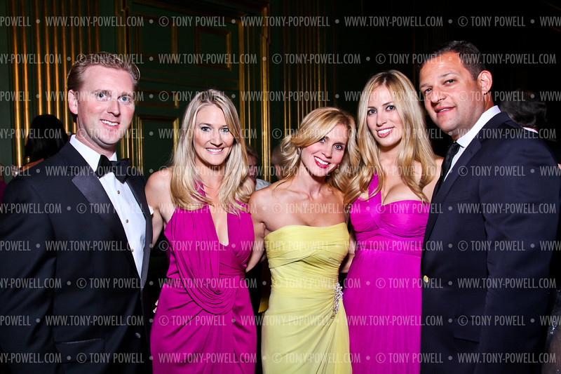 Tripp Donnelly, Tiffany Carter, Stacey Lubar, Amy Donnelly, Greg Lubar. Photo by Tony Powell. 2012 LUNGevity Gala. Mellon Auditorium. September 14, 2012